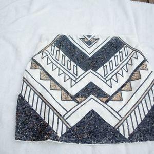 Geo Sequin Skirt | Express | L